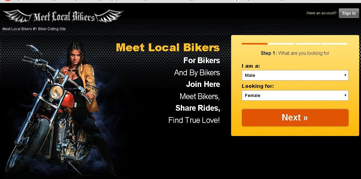MeetLocalBikers.com is the third biker dating site.